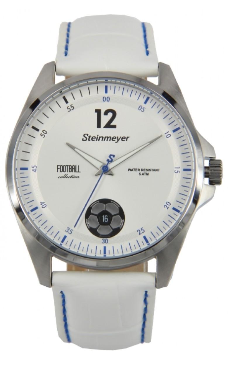 """S 241.14.37  мужские кварцевые часы Steinmeyer """"Football""""  S 241.14.37"""