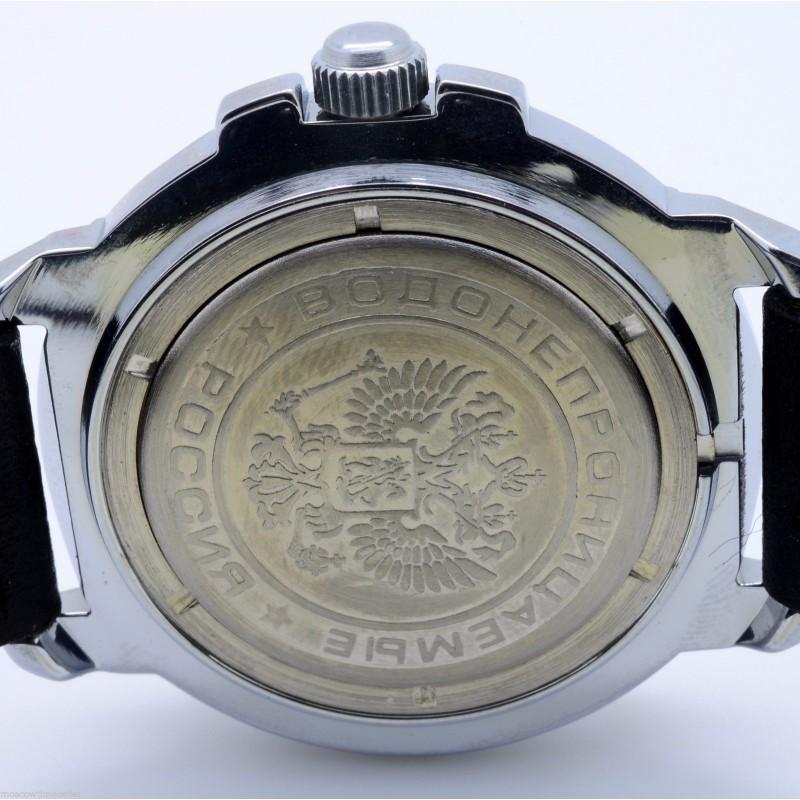 """431314 российские механический наручные часы Восток \""""Командирские\"""" для мужчин логотип ВВС  431314"""