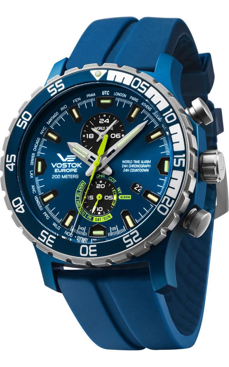 YM8J/597E546  водонепроницаемые мужские кварцевые часы Vostok Europe  YM8J/597E546
