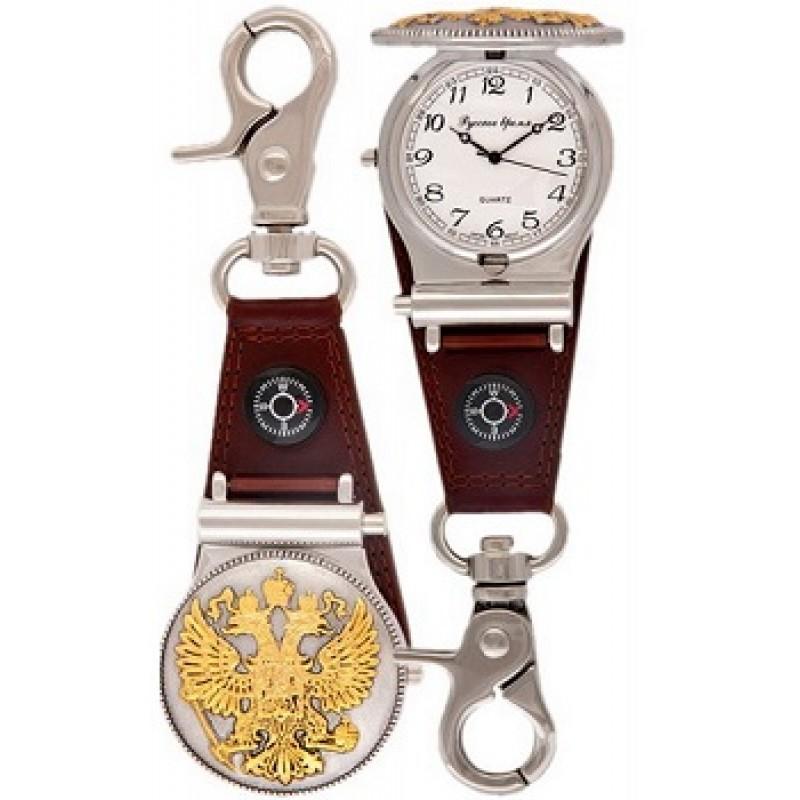 2254935 российские универсальные кварцевые карманные часы Русское время  2254935