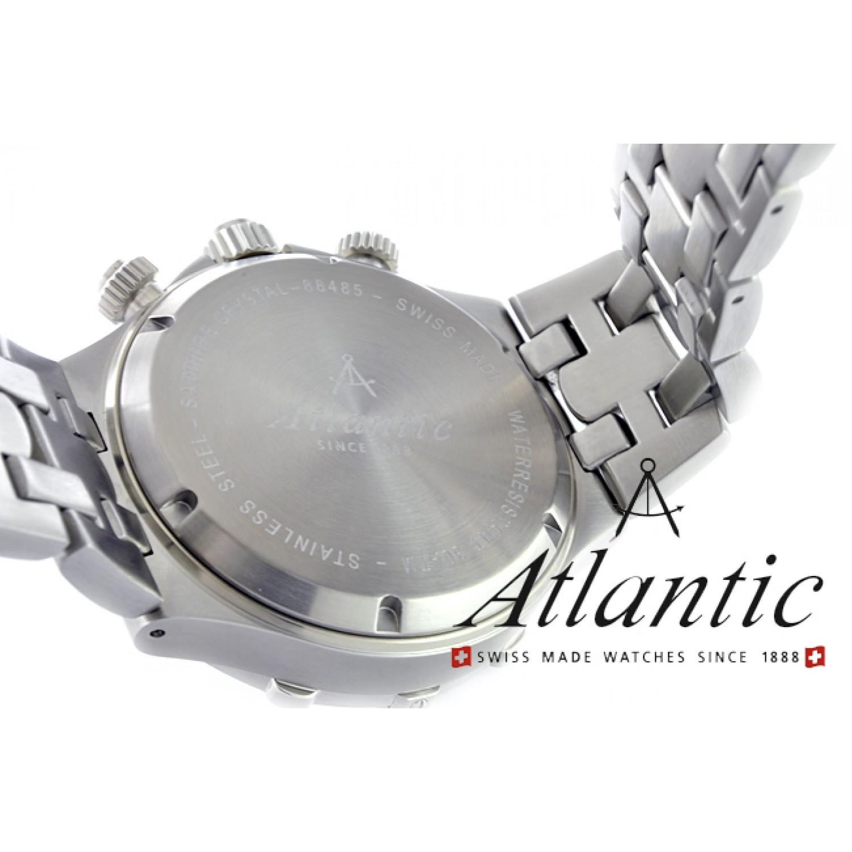 """88485.41.41 швейцарские мужские кварцевые наручные часы Atlantic """"Seashark""""  88485.41.41"""