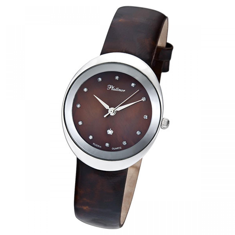 94006.724 российские серебрянные кварцевые наручные часы Platinor