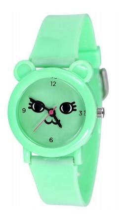 205 бирюзовая киса российские детские кварцевые наручные часы Радуга  205 бирюзовая киса