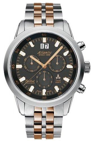 73465.43.61R  кварцевые наручные часы Atlantic для мужчин с сапфировым стеклом 73465.43.61R