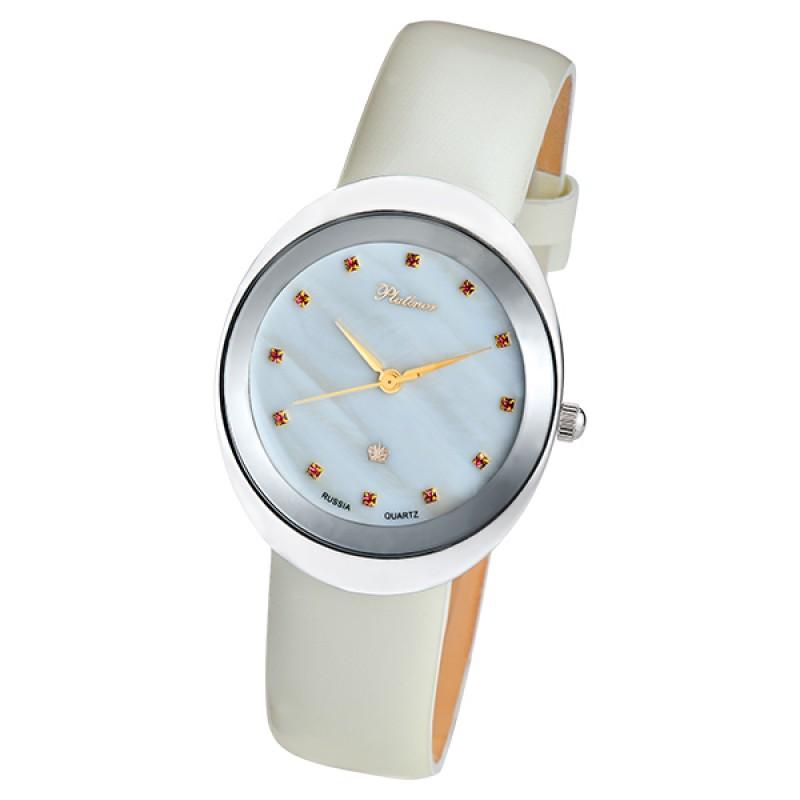 94006.724 Часы наручные кварцевые женские Галатея серебро 925* вст-ка фианит
