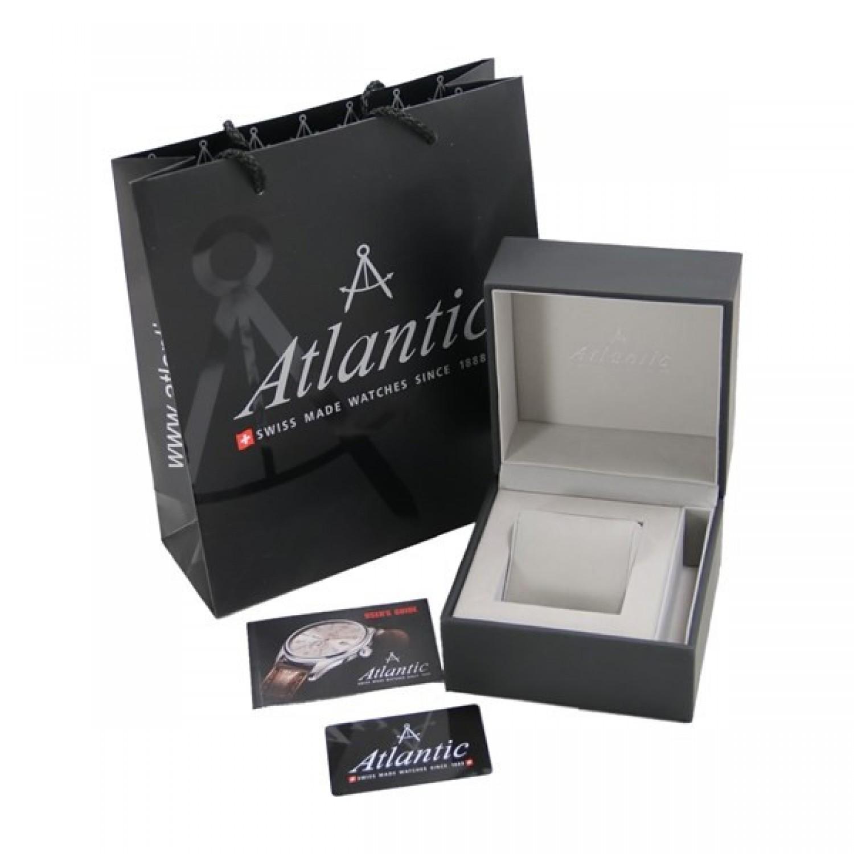 """66355.41.21  кварцевые наручные часы Atlantic """"Seacrest"""" для мужчин с сапфировым стеклом 66355.41.21"""