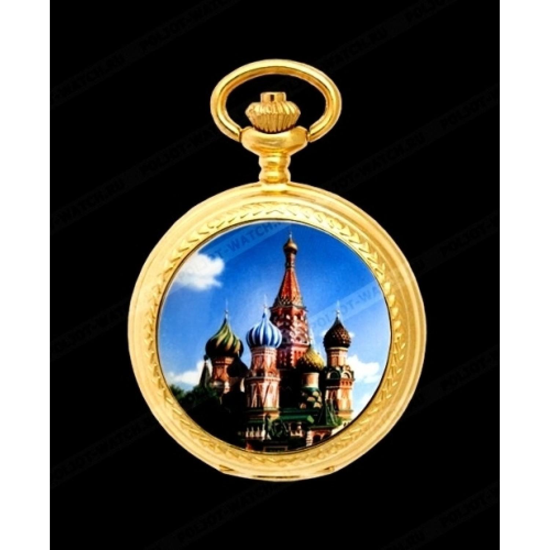 2176505 российские универсальные механические карманные часы Русское время  2176505