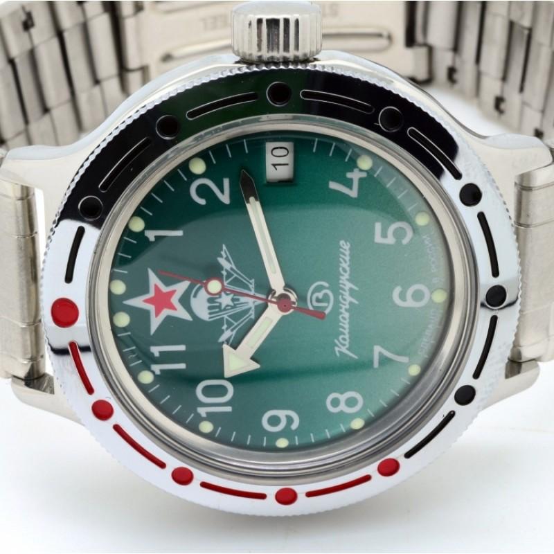"""420307/2416 российские водонепроницаемые военные мужские механические наручные часы Восток """"Амфибия""""  420307/2416"""