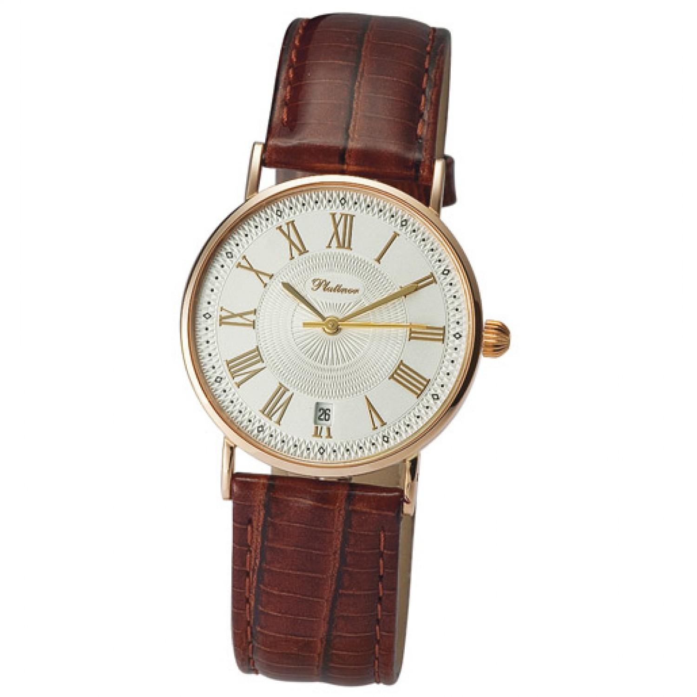 54550-5,97 российские золотые женские кварцевые часы Platinor