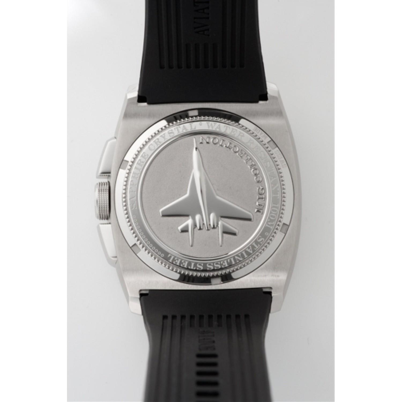 """M.1.12.0.051.6 российские кварцевые наручные часы Aviator """"MIG 29 Cockpit GMT"""" для мужчин  M.1.12.0.051.6"""