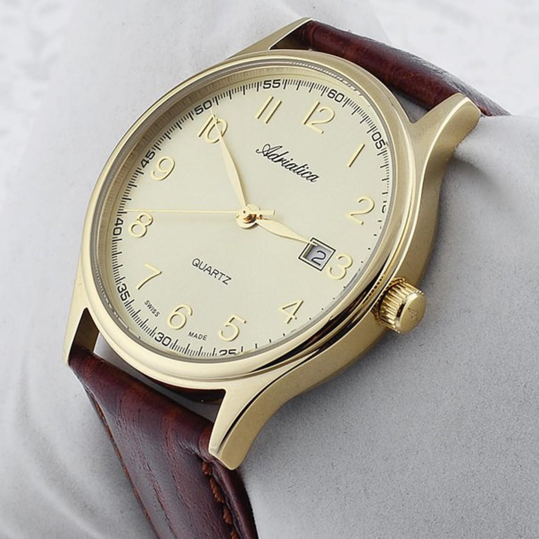 """A12406.1221Q швейцарские мужские кварцевые часы Adriatica """"AVIATION""""  A12406.1221Q"""
