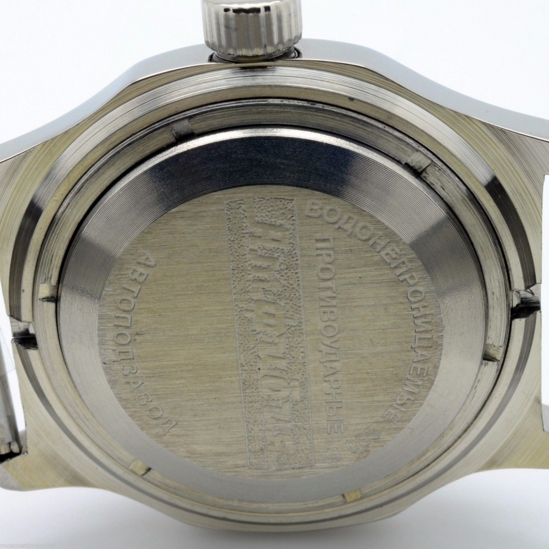 """100816 российские водонепроницаемые механические наручные часы Восток """"Амфибия"""" для мужчин  100816"""