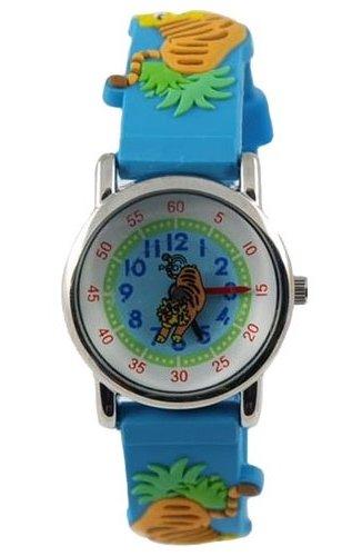 101 бирюзовые тигры российские детские кварцевые наручные часы Радуга  101 бирюзовые тигры