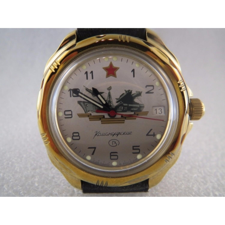 """219823/2414 российские военные мужские механические наручные часы Восток """"Командирские""""  219823/2414"""