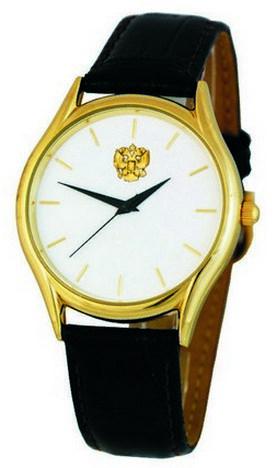 "1129529/2035  кварцевые часы Слава ""Патриот"" логотип Герб РФ  1129529/2035"