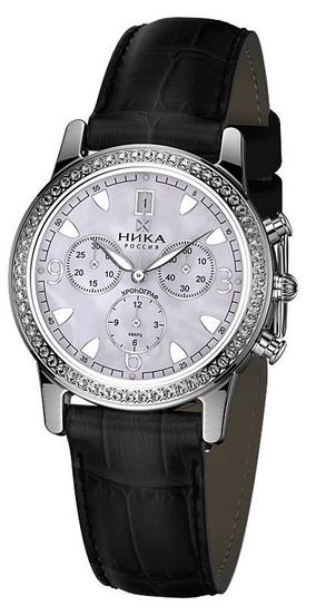 """1807.2.9.34Н российские серебрянные кварцевые наручные часы Ника """"Ego"""" для женщин  1807.2.9.34Н"""