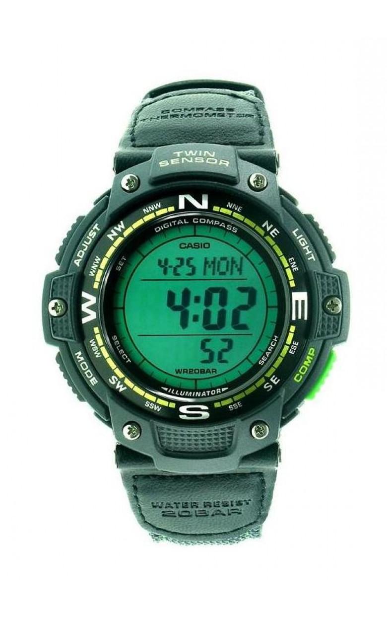 SGW-100B-3A2 японские водонепроницаемые кварцевые наручные часы Casio