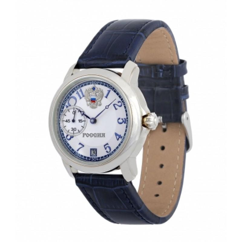 3105/119109П российские серебрянные мужские механические наручные часы Премиум-Стиль логотип Герб РФ  3105/119109П