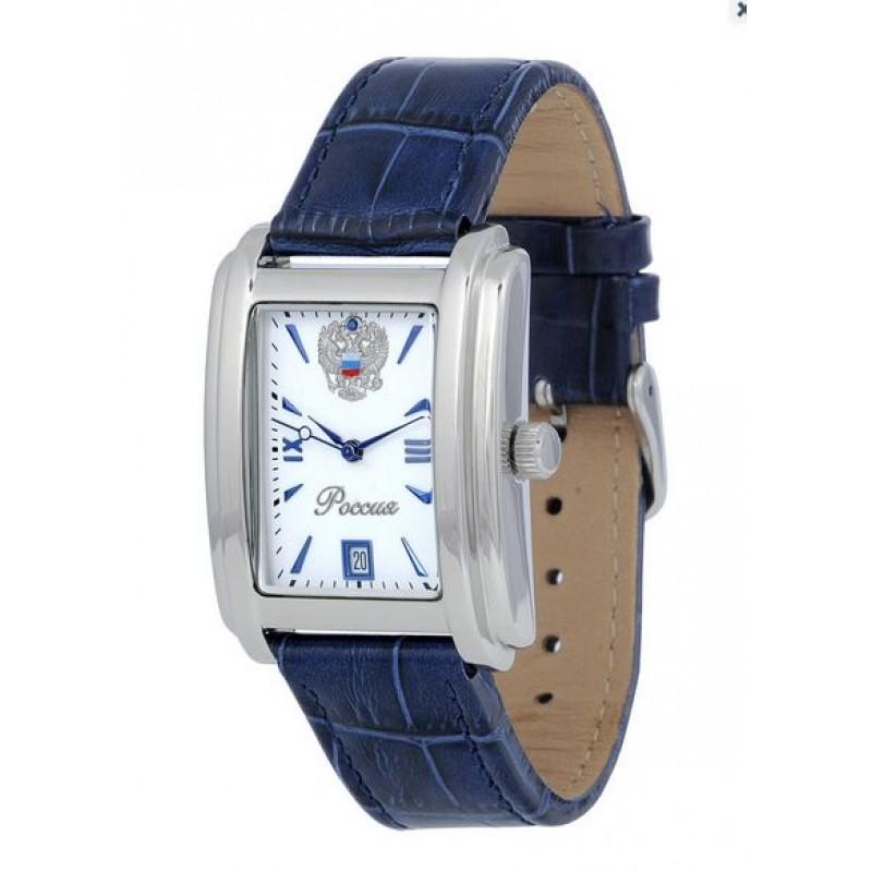 8215/5901134П российские мужские механические наручные часы Полёт-Стиль логотип Герб РФ  8215/5901134П