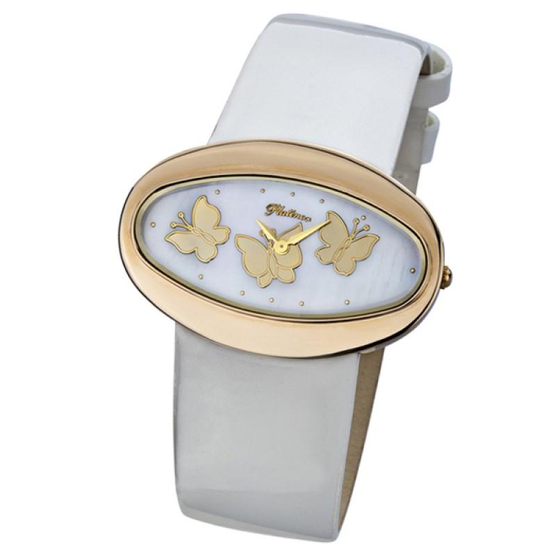 """92650.213 российские золотые женские кварцевые наручные часы Platinor """"Саманта""""  92650.213"""