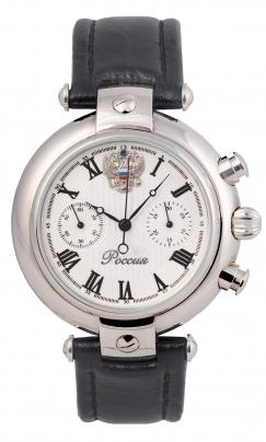 3140/4441225П  механические с автоподзаводом часы Премиум-Стиль логотип Герб РФ  3140/4441225П