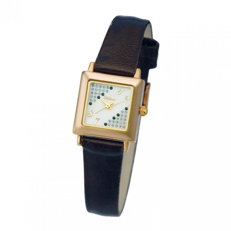 90250.420 российские золотые женские кварцевые часы Platinor