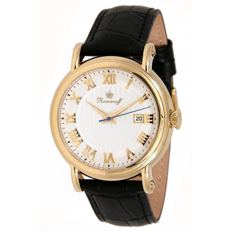 """3714А1BL российские мужские кварцевые наручные часы Romanoff """"Классика""""  3714А1BL"""