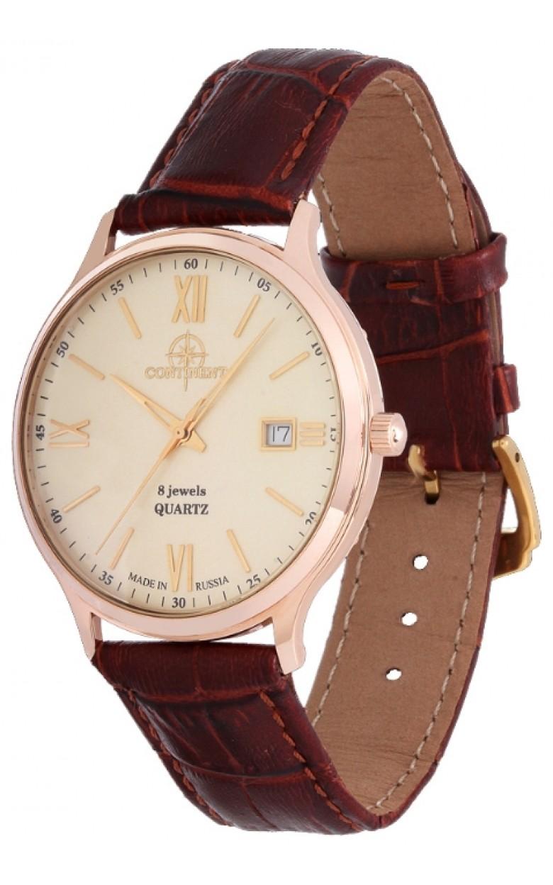 123.1.1015 российские золотые кварцевые наручные часы Continent для мужчин  123.1.1015