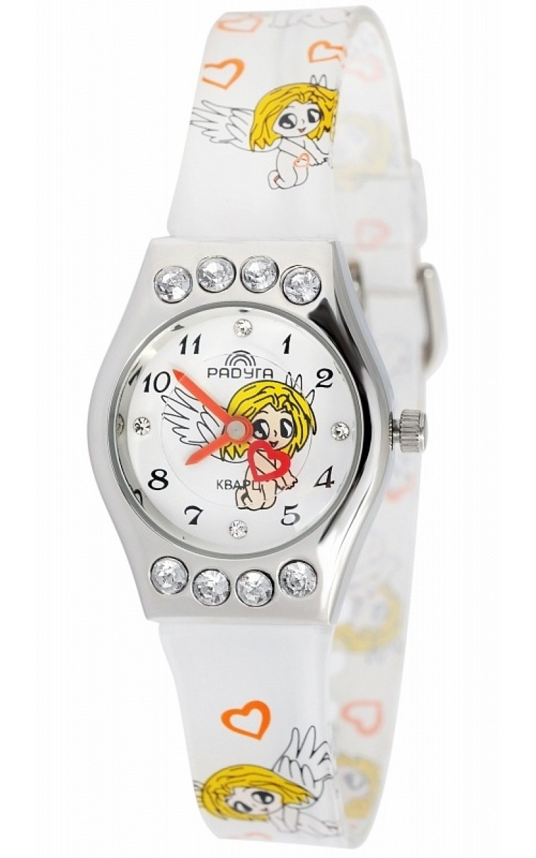 113 белые ангелочки российские детские кварцевые часы Радуга  113 белые ангелочки