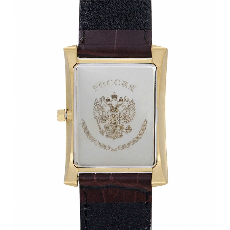 3000/1296191П российские мужские кварцевые часы Полёт-Стиль логотип Герб РФ  3000/1296191П