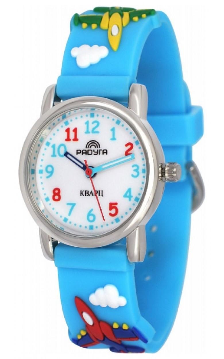 101-1 синие  самолёты российские кварцевые наручные часы Радуга для детей  101-1 синие  самолёты