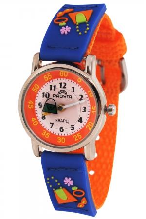 111 оранж/син.сумка  кварцевые наручные часы Радуга  111 оранж/син.сумка