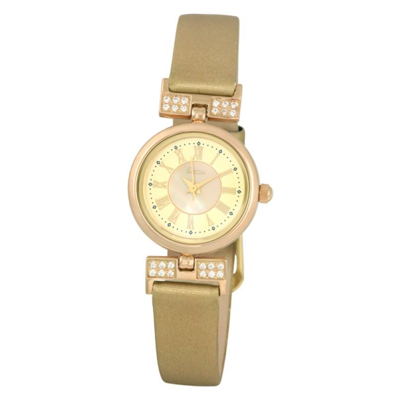 """98256.105 Часы наручные """"Чайка"""" Ритм-2 женские золото 585*  вст.фианит"""