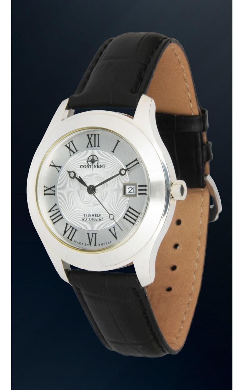 127.9.8215 российские серебрянные механические наручные часы Continent для мужчин  127.9.8215