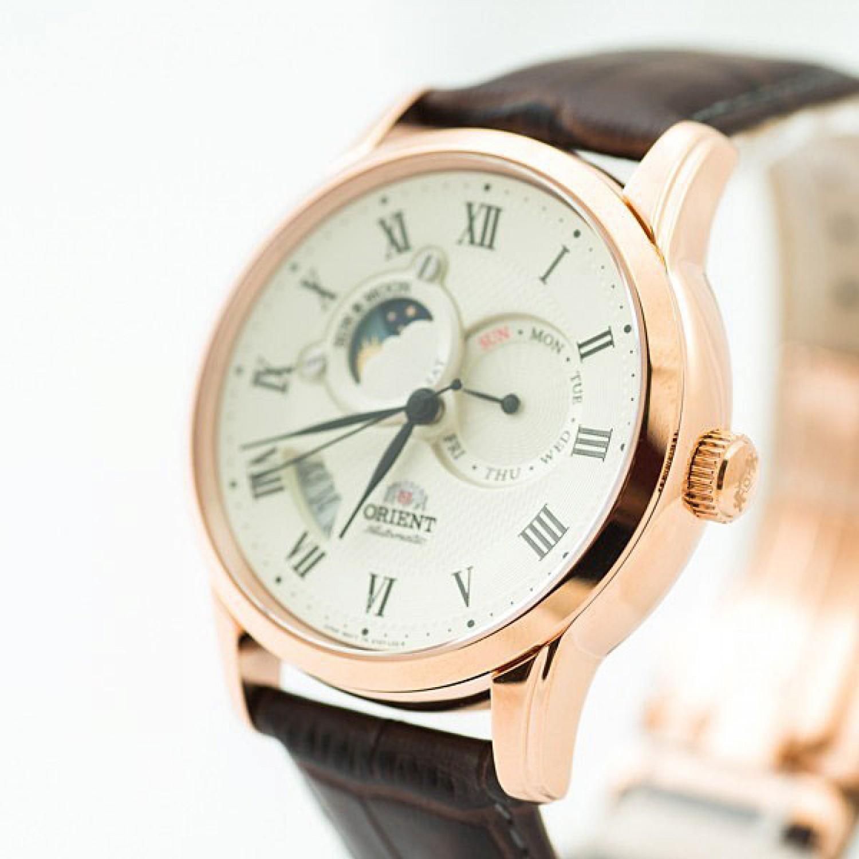 """FET0T001W0 японские мужские механические наручные часы Orient """"Sun and Moon""""  FET0T001W0"""