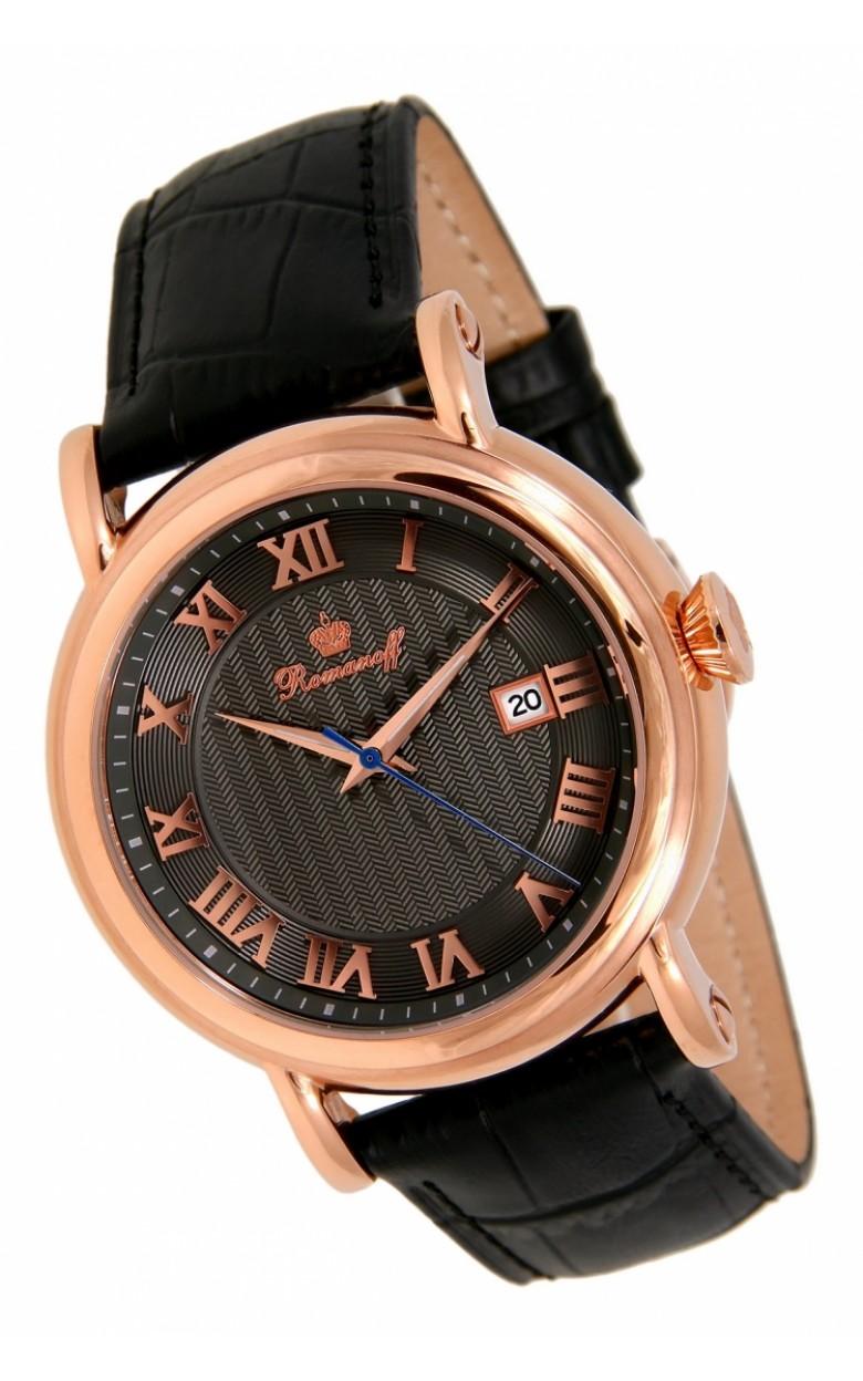 3714B3BL российские мужские кварцевые наручные часы Romanoff