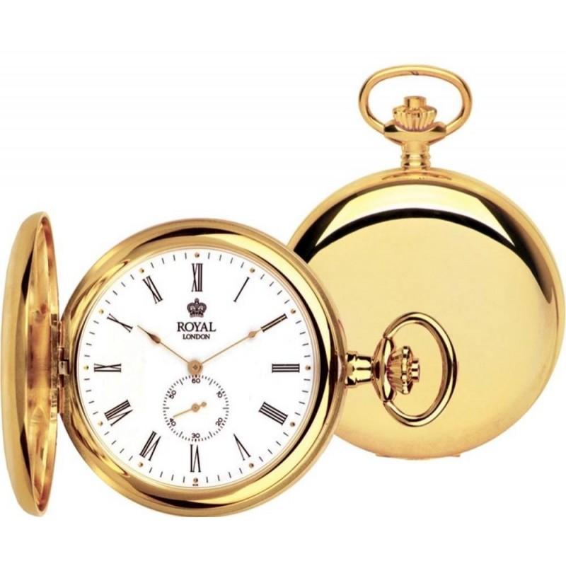 Карманные часы royal london изготовлены из полированной нержавеющей стали высокого качества.