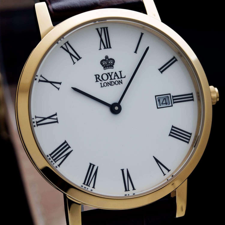 40007-02  мужские кварцевые наручные часы Royal London