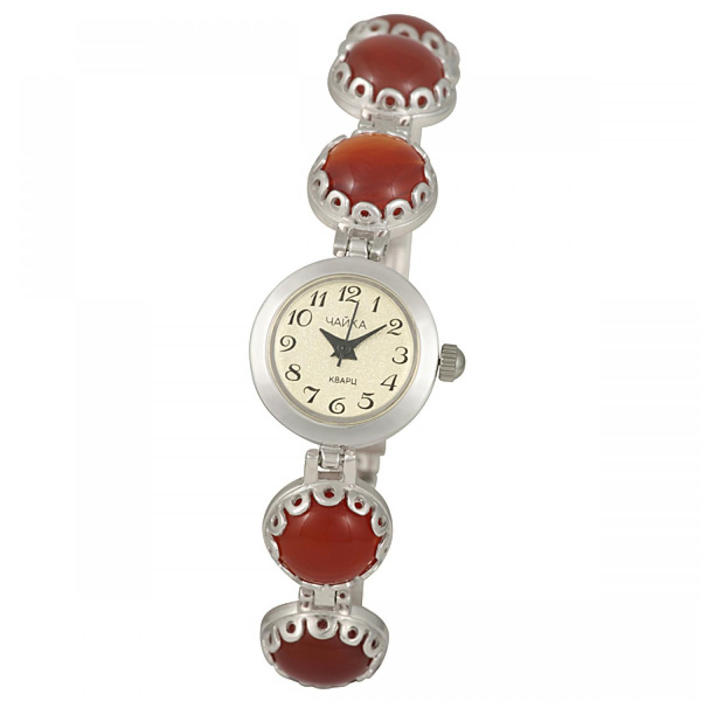"""44107.317 российские серебрянные кварцевые наручные часы Platinor """"Весна"""" для женщин  44107.317"""