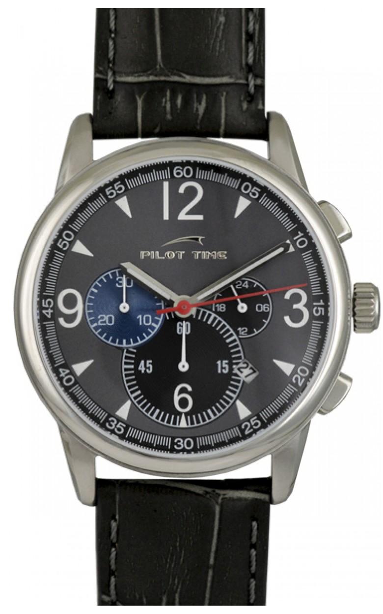78033254 российские мужские кварцевые часы Pilot-Time