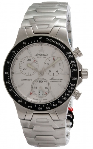 "80476.41.21 швейцарские водонепроницаемые кварцевые наручные часы Atlantic ""Mariner"" для мужчин  80476.41.21"