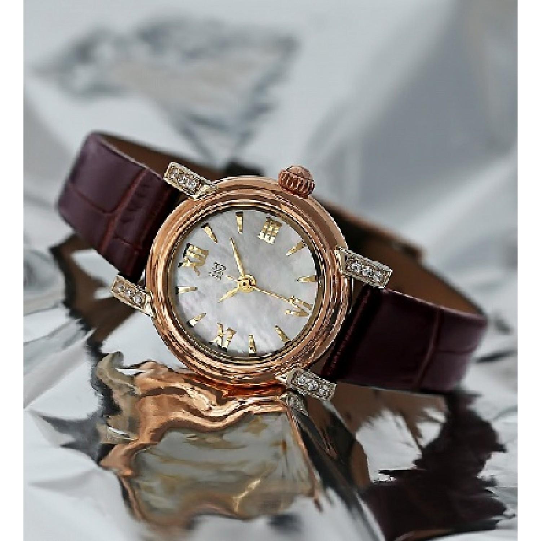 0012.2.1.33A российские золотые кварцевые наручные часы Ника