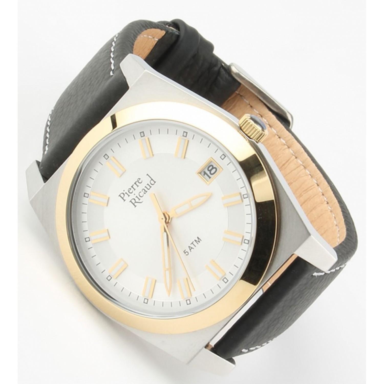 """P97021.2213Q  мужские кварцевые часы Pierre Ricaud """"Gents Strap""""  P97021.2213Q"""