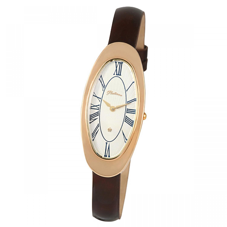 """92850.115 российские золотые кварцевые наручные часы Platinor """"Стефани"""" для женщин  92850.115"""