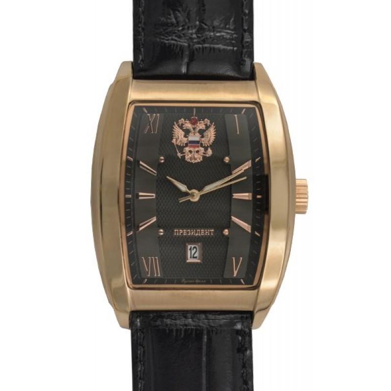 1259596 российские мужские кварцевые наручные часы Президент логотип Герб РФ  1259596
