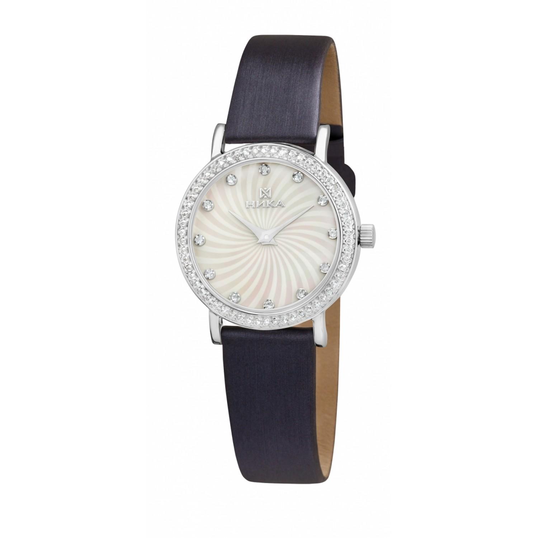 """0102.2.9.36A российские серебрянные кварцевые наручные часы Ника """"Slimline"""" для женщин  0102.2.9.36A"""