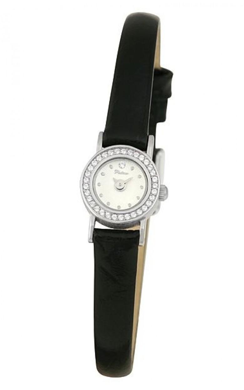 44606  российские серебрянные женские кварцевые часы Platinor