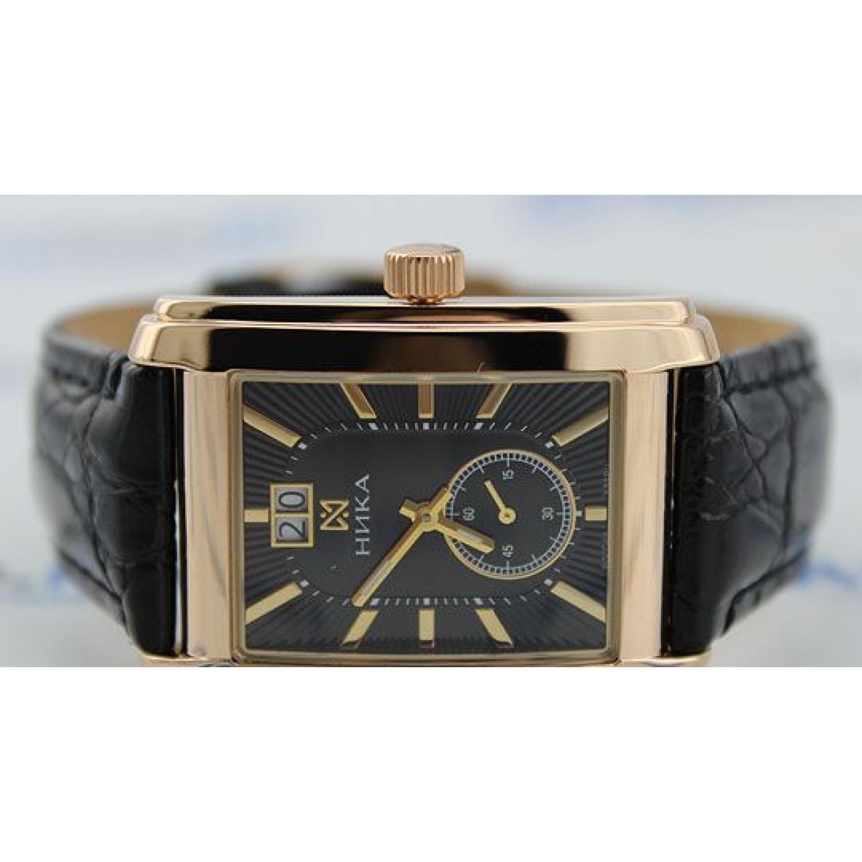 1241.0.1.55А российские золотые мужские механические часы Ника