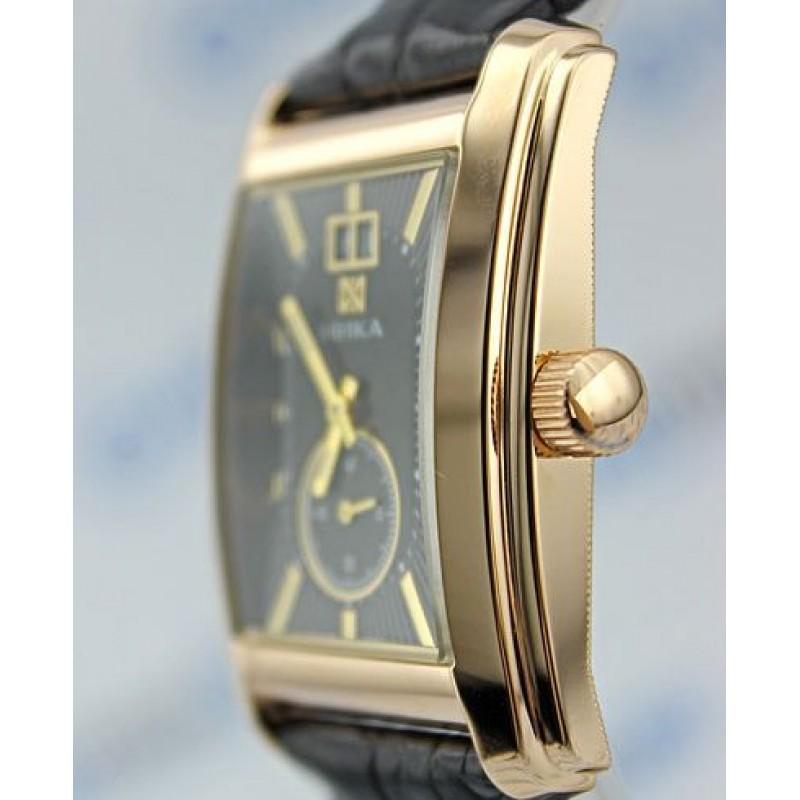 """1241.0.1.55А российские золотые мужские механические часы Ника """"Gentleman""""  1241.0.1.55А"""
