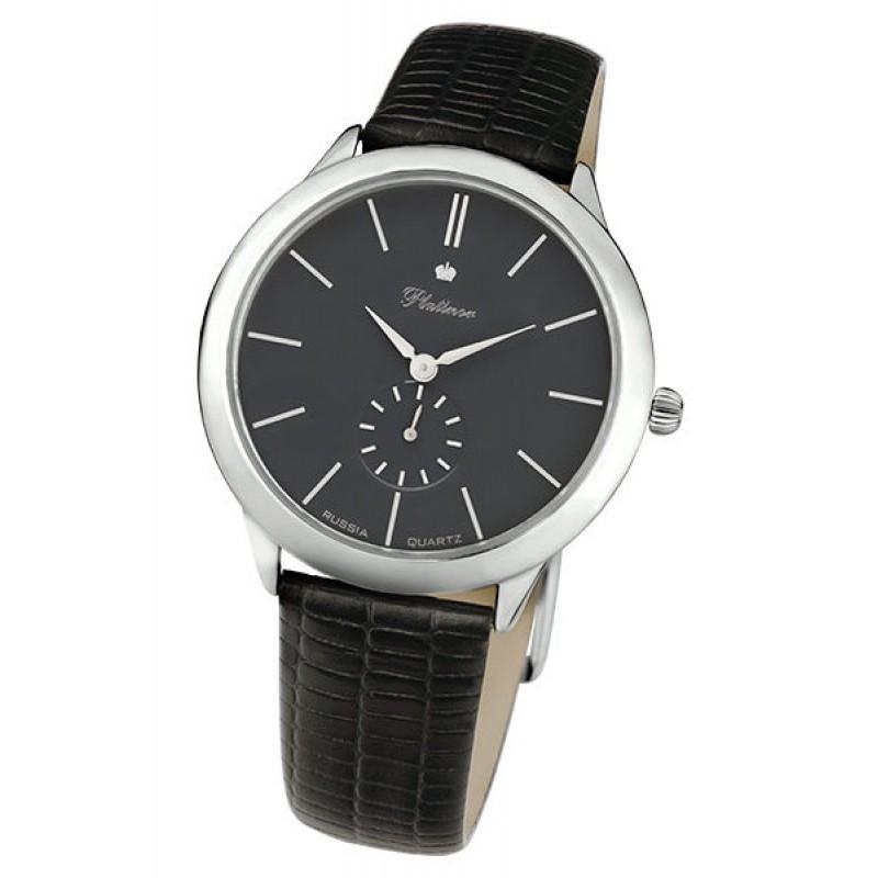 Российские серебрянные кварцевые наручные часы Platinor